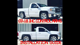"(PART 1) Updated/Revised 2007-2018 Chevy/GMC 4"" adjust 5"" lowering control arms. Installation guide"