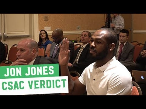 Jon Jones gets sentenced by the California State Athletic Commission