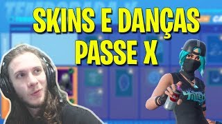 ¡Todas las pieles y bailes del Battle pass X! (10)-FORTNITE