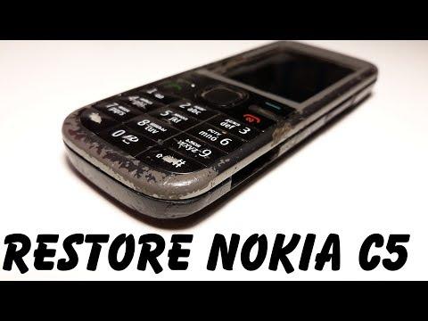 Restoration old Nokia C5-00 | Restore broken mobile phone Ремонт и восстановления ретро телефона