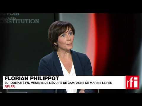 Florian Philippot, Eurodéputé FN, membre de l'équipe de campagne de Marine Le Pen
