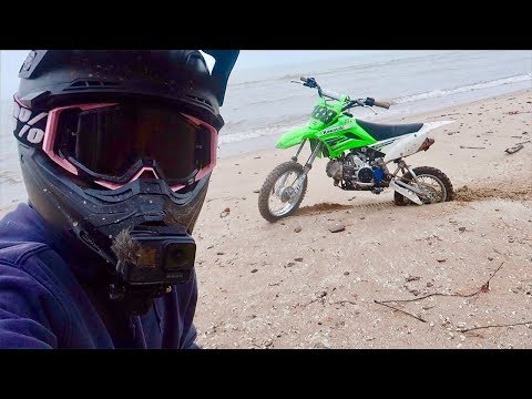 FOUND ABANDONED BEACH ON PIT BIKES
