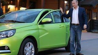 Президенту представили новую модель «АвтоВАЗа» – автомобиль «Лада Веста»