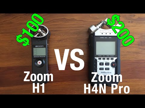 Zoom H1 vs. H4N Pro - Which is MORE worth it?!