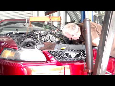 Mustang GT motor swap  2002 and 1998 swap with each other pt6