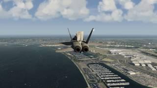 F-18 Crash Landing Aircraft Carrier