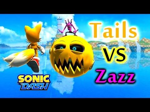 Sonic Dash - Tails VS Zazz [Widescreen / Landscape 1080p]