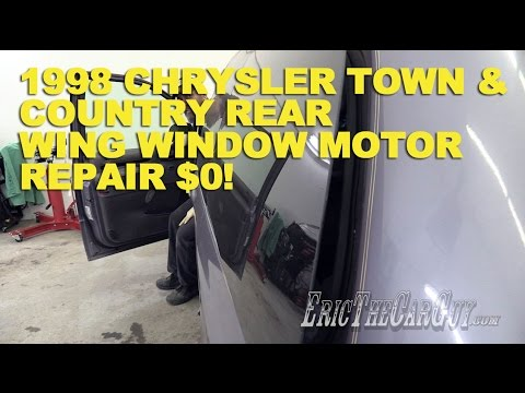 1998 chrysler town country rear wing window motor repair for Town country motors