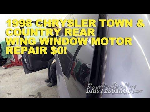 1998 Chrysler Town & Country Rear Wing Window Motor Repair $0! -Fixing it Forward