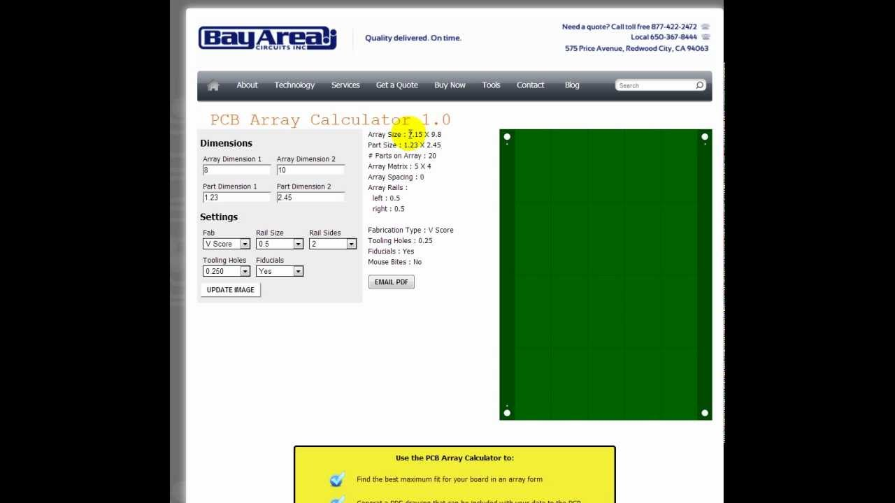 Pcb Quote Pcb Array Calculator 1.0  Youtube
