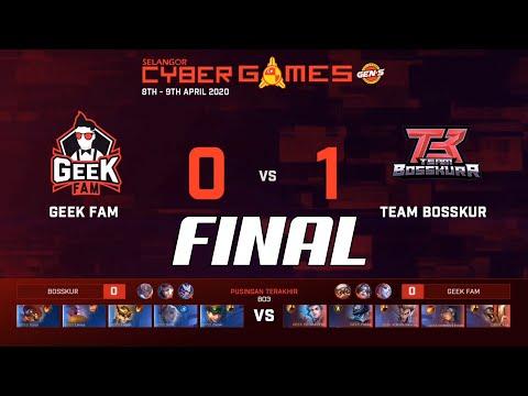 FINAL!! TEAM BOSSKUR VS GEEK FAM   LEIXIA MENGGANAS   SELANGOR CYBER GAMES   GAME 1