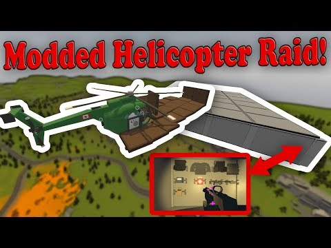 RAIDING A REALLY ABUSIVE ADMIN SKY BASE! (Modded Unturned)