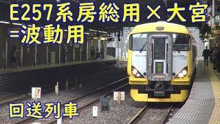 E257系NB10編成 大宮発車