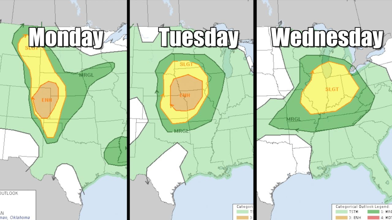 Multi-day severe weather outbreak for the middle-U.S.