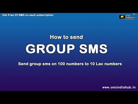 How To Send Group SMS, How to create SMS group via using smsindiahub sms  panel