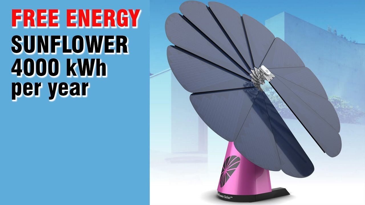 Free Energy Movable Solar System Sunflower Must See