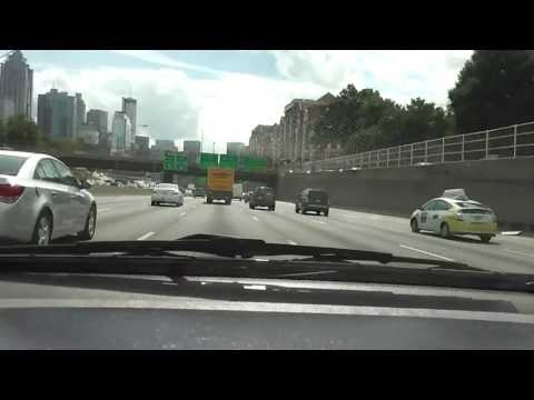 Ride Through The Downtown Interstate 75/85 Connector Southbound In(HD) Atlanta,Ga.9-30-2013