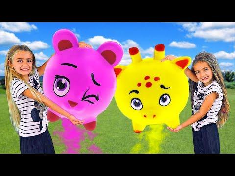 Las Ratitas con su nueva colecci贸n de juguetes squishy friends playing toys squeezies videos