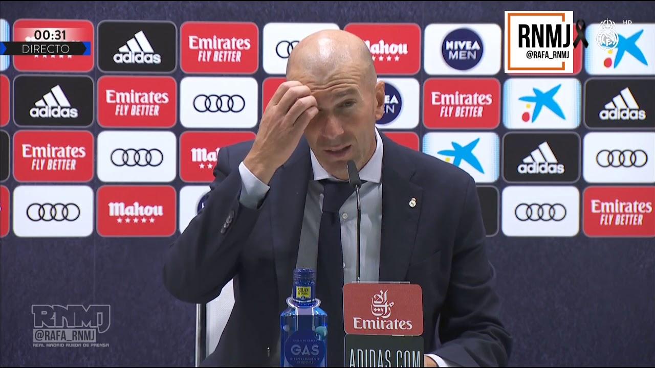 Rueda de prensa de ZIDANE post Real Madrid 2-0 Deportivo Alavés (10/07/2020)