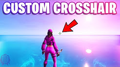 How To Get A Custom Crosshair In Fortnite...
