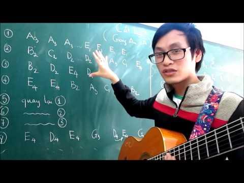 (GPT guitar school) BÀI 4c: CÁT BỤI (bấm nốt solo)