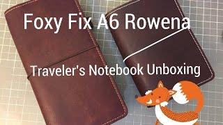 foxy fix a6 rowena traveler s notebook