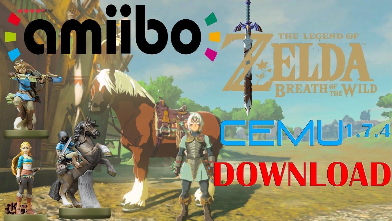 Zelda Breath Of The Wild Cemu 1 7 4 FULL + AMIIBOS + EPONA + DOWNLOAD!!!