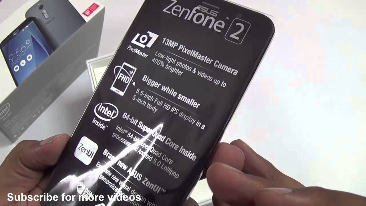 Asus Zenfone 2 4GB RAM ZE551ML Unboxing