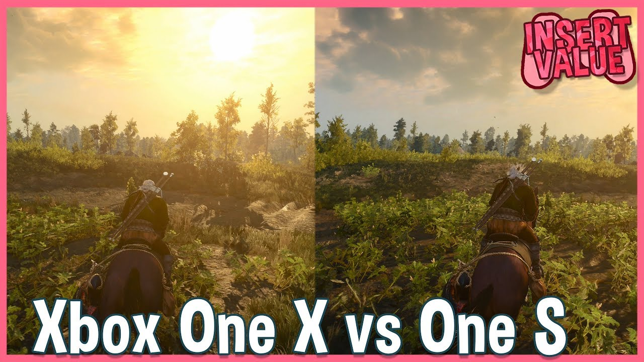 witcher 3 xbox one x vs xbox one s 4k gameplay comparison. Black Bedroom Furniture Sets. Home Design Ideas
