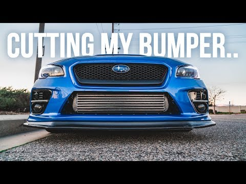 Cutting Up My 2017 WRX Bumper! No Turning Back Now...