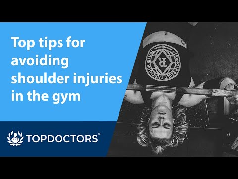 Top tips for avoiding shoulder injuries in the gym