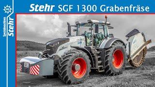 Stehr Grabenfräse SGF 1300 mit neuem Auswurfs-Konzept