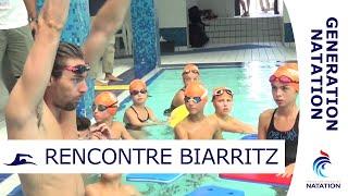 Florent Manaudou, C. Lacourt, F. Gilot partagent leur passion à Biarritz - GENERATION NATATION