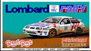 Lombard RAC Rally - 1988 PC Game, gameplay
