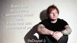 Ed Sheeran - lyrics Shape Of You