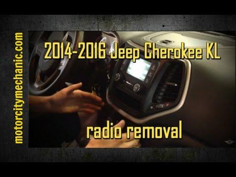 2014-2016 Jeep Cherokee KL Radio Removal