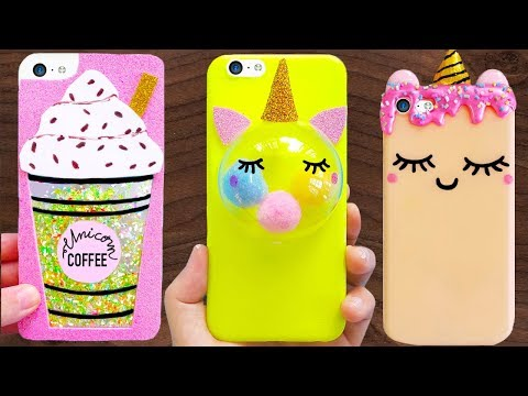 8 DIY UNICORN PHONE CASES | Easy & Cute Phone Projects & iPhone Hacks