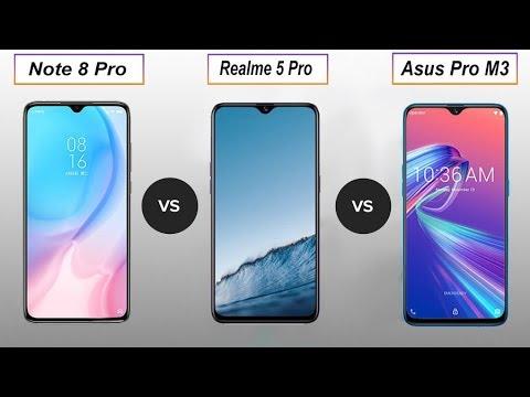 Redmi Note 8 Pro Vs Realme 5 Pro Vs Asus Max Pro M3 Comparison in Hindi (2019)
