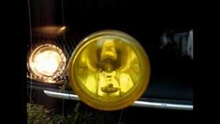 Как желтые противотуманые фары светят + в дождь