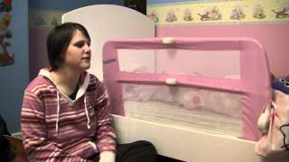 Lindam Safe And Secure Soft Bed Rail - Bed Time Review Video - Reviewgear