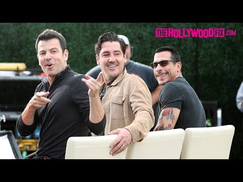 New Kids On The Block Mingle With Fans While Filming Extra At Universal Studios Hollywood 11.13.18