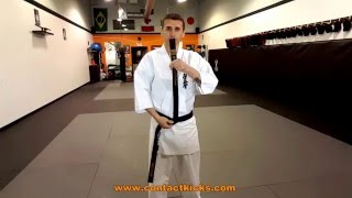 Proper way to tie your karate kyokushin belt. Contact Kicks Martial...