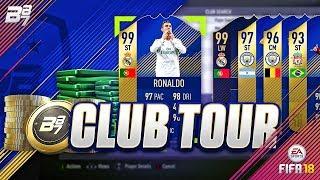 INSANE TOTS CLUB TOUR! 2X 99 RONALDO!! | FIFA 18 ULTIMATE TEAM