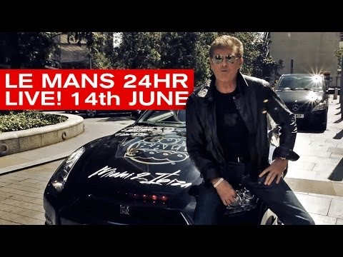'Knight Rider GTR' and The Hoff  join us LIVE AT LE MANS 2014! 14th June. 2014