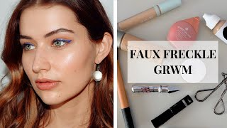 GRWM USING FRECK PRODUCTS | FAUX FRECKLES DEMO & FIRST IMPRESSION