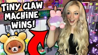 WINNING THE SMALLEST CLAW MACHINES EVER!!! Neofuns Arcade!