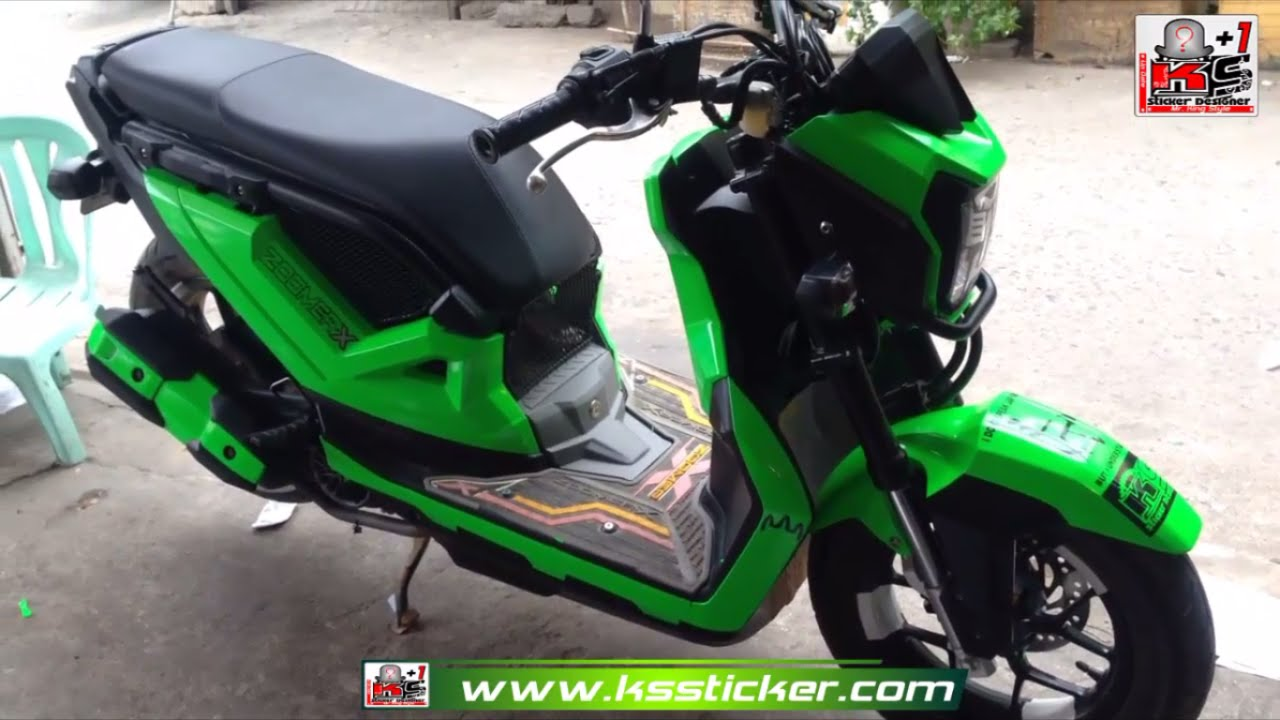 Honda Zoomer X Best Color New Sticker In Cambodia Video Youtube