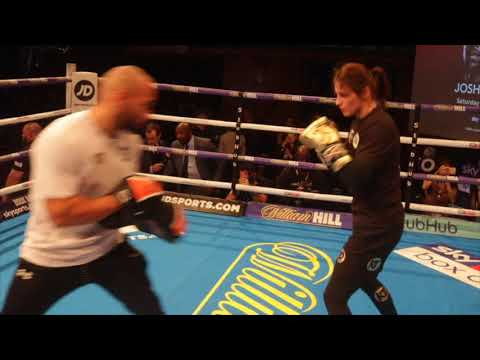 AND THE NEW!! KATIE TAYLOR SHOWS EXPLOSIVE HAND SPEED DURING PUBLIC WORKOUTS/ JOSHUA v TAKAM