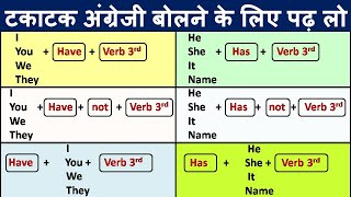 English बोलना सीखे/ English Speaking Class /Use of Present perfect tenses with all examples