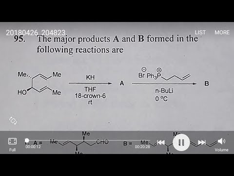 Csir net chemical science solved question 2015 june part c, oxy cope rearrangement with standerd exa